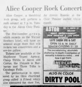 71 dec 25. beacon journal for 28th show