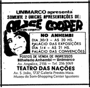 1974-03-30 Brazil show advert