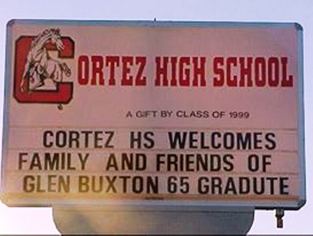 Sign at Cortez High School