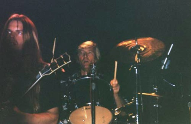 Neal on drums